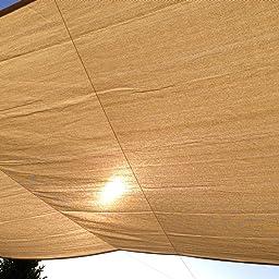 Cool Area Toldo Vela de Sombra Rectangular 4 x 6 Metros Protección ...