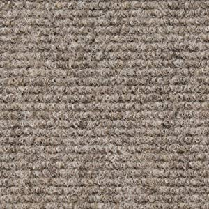 House, Home and More Indoor Outdoor Carpet with Rubber Marine Backing - Brown - 6 Feet x 10 Feet