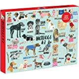 """Mudpuppy 1,000-Piece Hot Dogs Puzzle, Playful Artwork Offers Drawings of 26 Fun Dogs, Finished Puzzle Measures 20""""x27"""""""