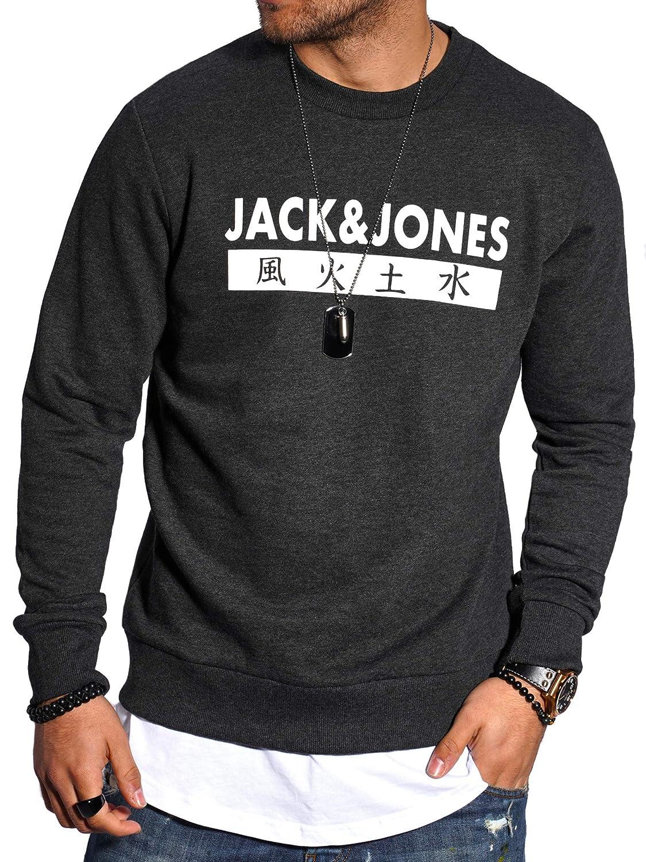 4 Elementos JACK /& JONES Sudadera para Hombre Cuello Redondo