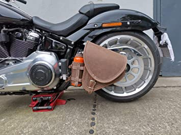 Diablo Brown Von Orletanos Kompatibel Mit Harley Davidson Hd Softail Flaschenhalter Fatbob Ab 2018 Neue Modelle Passend Fatboy Braun Leder Echtleder Tasche Auto