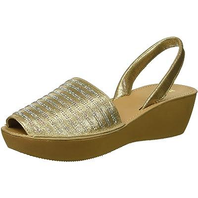 Kenneth Cole REACTION Women's Fine Stripe Platform Sandal Wedge | Platforms & Wedges