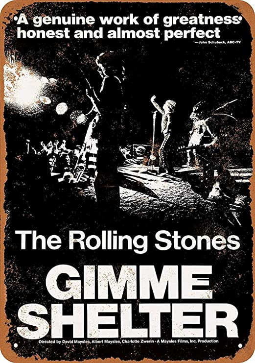 HALEY GAINES Rolling Stones Gimme Shelter Placa Cartel ...