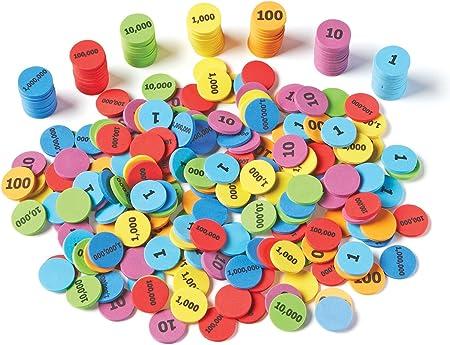Learning Resources- Discos para Aprender el Valor posicional, Color (LER5215): Amazon.es: Juguetes y juegos