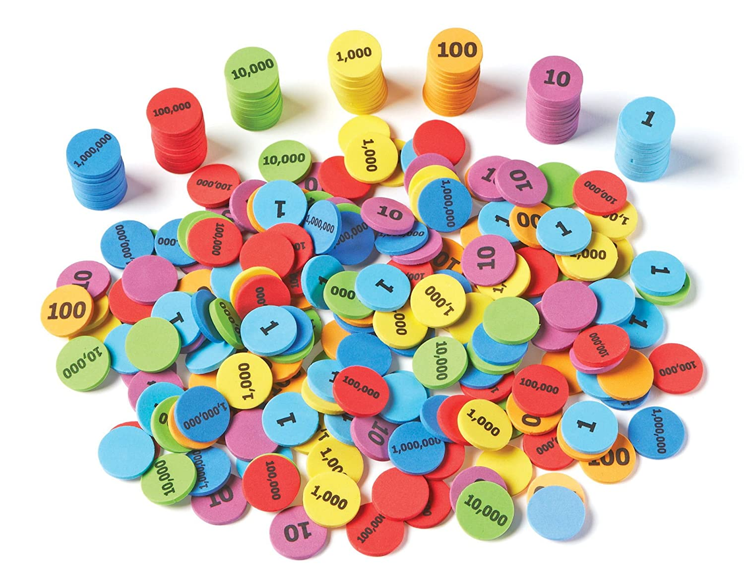 Learning Resources Place Value Disks, Set of 280 Pieces, Ages 5 and up