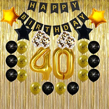 40th Birthday Decorations Gifts For Men Wome
