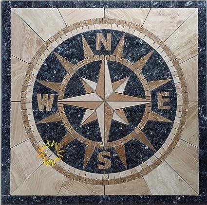 Floor Marble Medallion Mosaic Tile X Inch Stone Medallion - 36 inch marble tile
