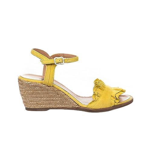 Gaimo - Alpargata Mujer, Amarillo (Amarillo), 39 EU: Amazon.es: Zapatos y complementos