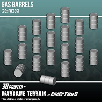 Gas Barrels, Terrain Scenery for Tabletop 28mm Miniatures Wargame, 3D  Printed and Paintable, EnderToys