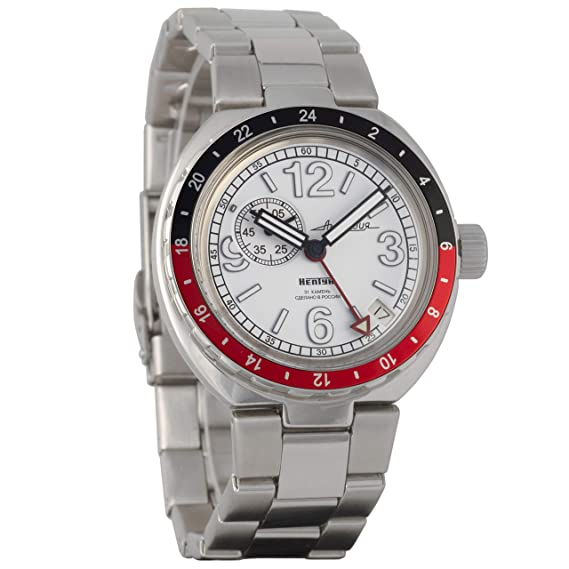 Vostok Anphibian Neptune - Reloj de Pulsera con Cuerda automático, diseño Ruso automático, 960761: Amazon.es: Relojes