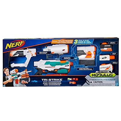 Nerf Modulus Tri-Strike with Accessories: Toys & Games