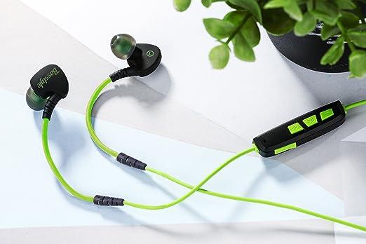 Auriculares Bluetooth de sudor para regalo de Navidad, basstyle Stereo Auriculares inalámbricos auriculares para música