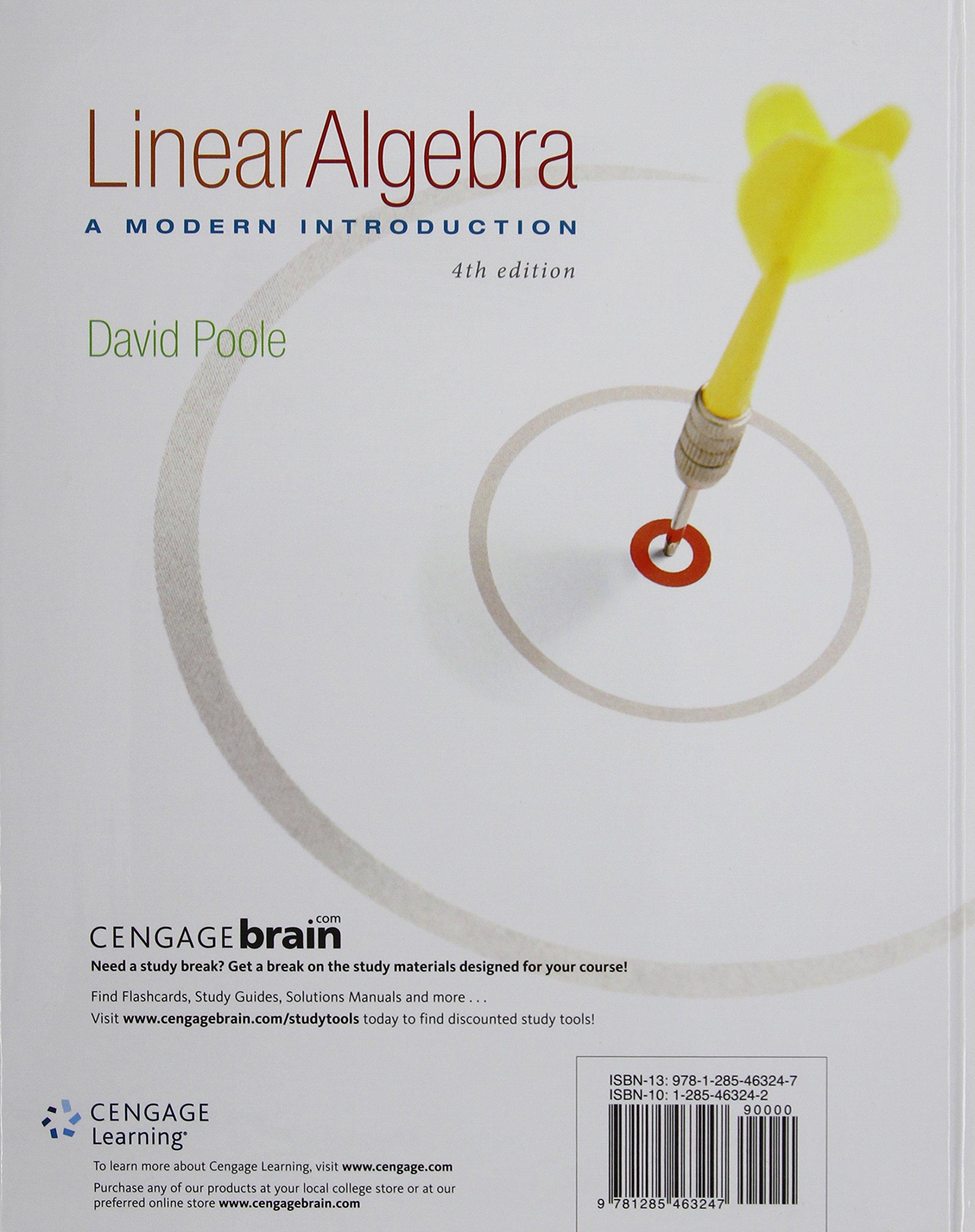 Linear Algebra: A Modern Introduction: David Poole: 8601421990653: Books -  Amazon.ca