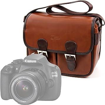 DURAGADGET Bolsa Profesional marrón con Compartimentos para cámara ...