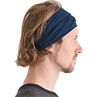 CHARM Mens Womens Headband Bandana – Comfortable Head Bands with Elastic Secure Snug Fit Non Slip for Runners Fitness…