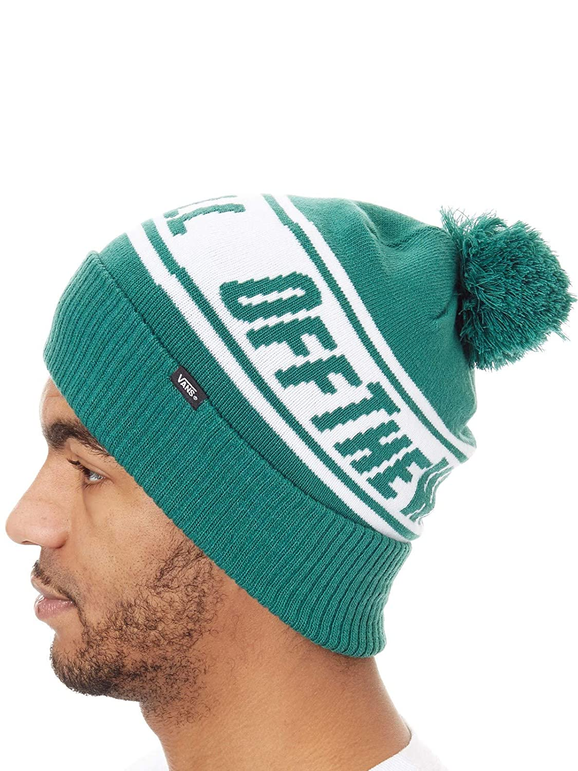 af6db7be2f1 Vans Off The Wall Pom Beanie Evergreen  Vans  Amazon.co.uk  Clothing