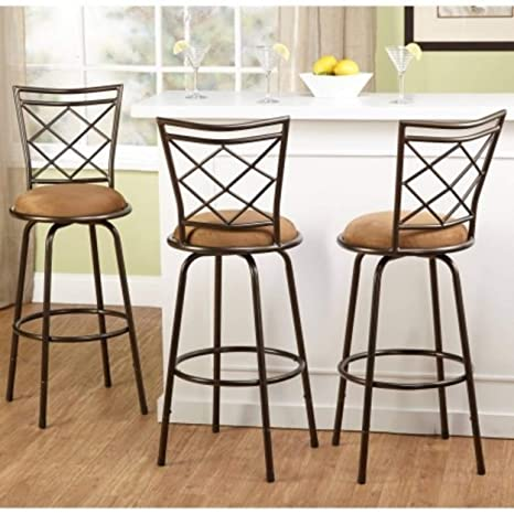 Swell 3 Piece Avery Ajustable Height Barstool Multiple Colors Brown Gmtry Best Dining Table And Chair Ideas Images Gmtryco