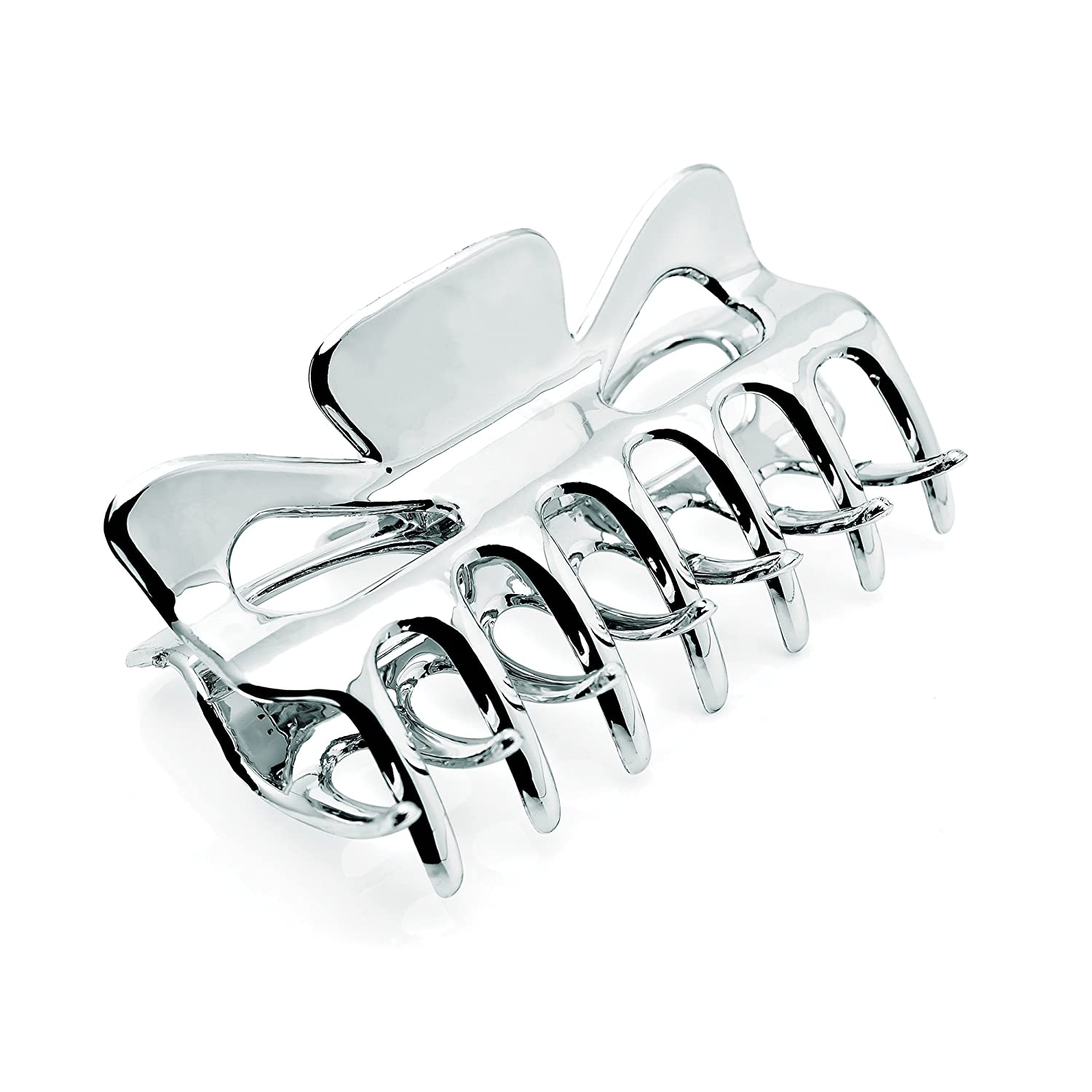 Allsorts® Silver Coloured 9cm Hair Clamps Hair Claw Allsorts Accessories