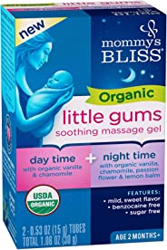 Mommy's Bliss - Organic Little Gums Soothing Massage Gel - Day & Night Combo - 2 0.53 OZ Tubes