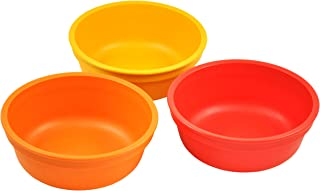 product image for Re-Play Made in USA 3pk 12 oz. Bowls in Red, Orange and Sunny Yellow | Made from Eco Friendly Heavyweight Recycled Milk Jugs and Polypropylene - Virtually Indestructible (Fall)