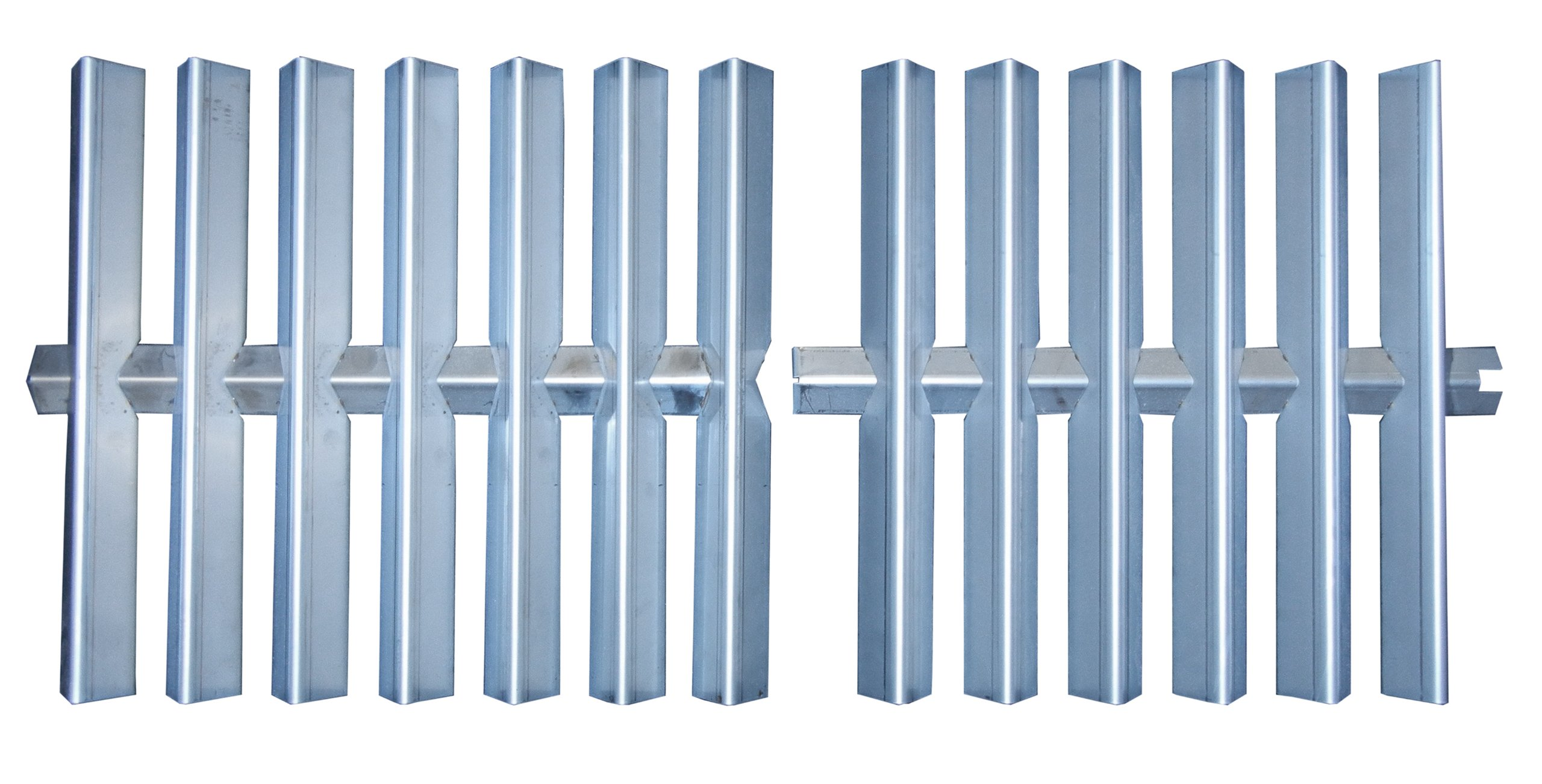 Music City Metals 98972 Stainless Steel Heat Plate Replacement for Select Weber Gas Grill Models, 15.875 by 36.625-Inch, Set of 2