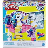 Play-Doh - My Little Pony - Canterlot Castle Playset - 3 Dolls, Acc & 5 Tubs of Dough - Creative Kids Toys - Ages 3+