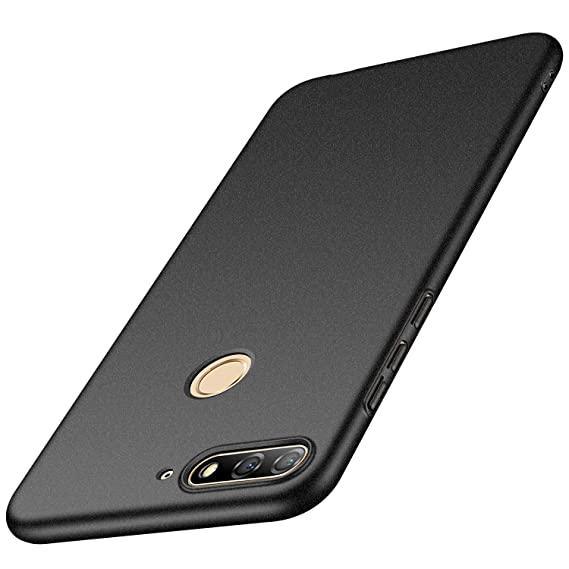Avalri Huawei Y7 Prime 2018 Case, Ultra Thin Anti-Fingerprint and Minimalist Hard PC Cover for Huawei Y7 2018 / Huawei Nova 2 Lite (Matte Dark)