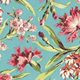 Carousel Designs Coral and Teal Floral Fabric by the Yard