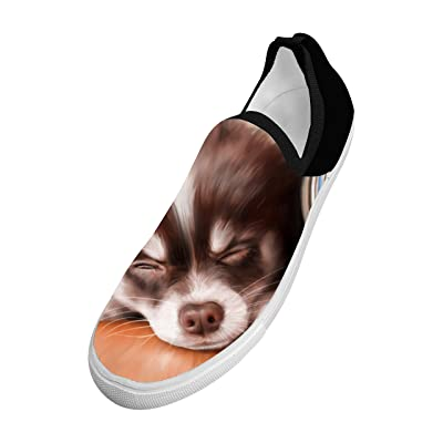 3D Printed Fly knit A Sleeping Puppy Picture Fly Knit Sneaker Shoes