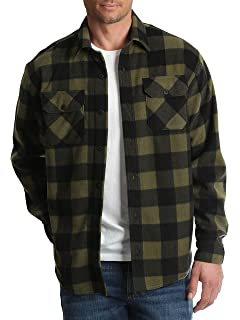 1854ef9e5ae Wrangler Mens Long Sleeve Fleece Flannel Shirt (Medium 38 40