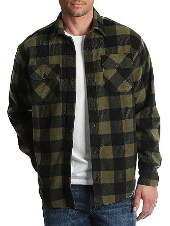 28d8551d6da Image Unavailable. Image not available for. Color  Wrangler Mens Long  Sleeve Fleece Flannel Shirt (XL 46 48 ...