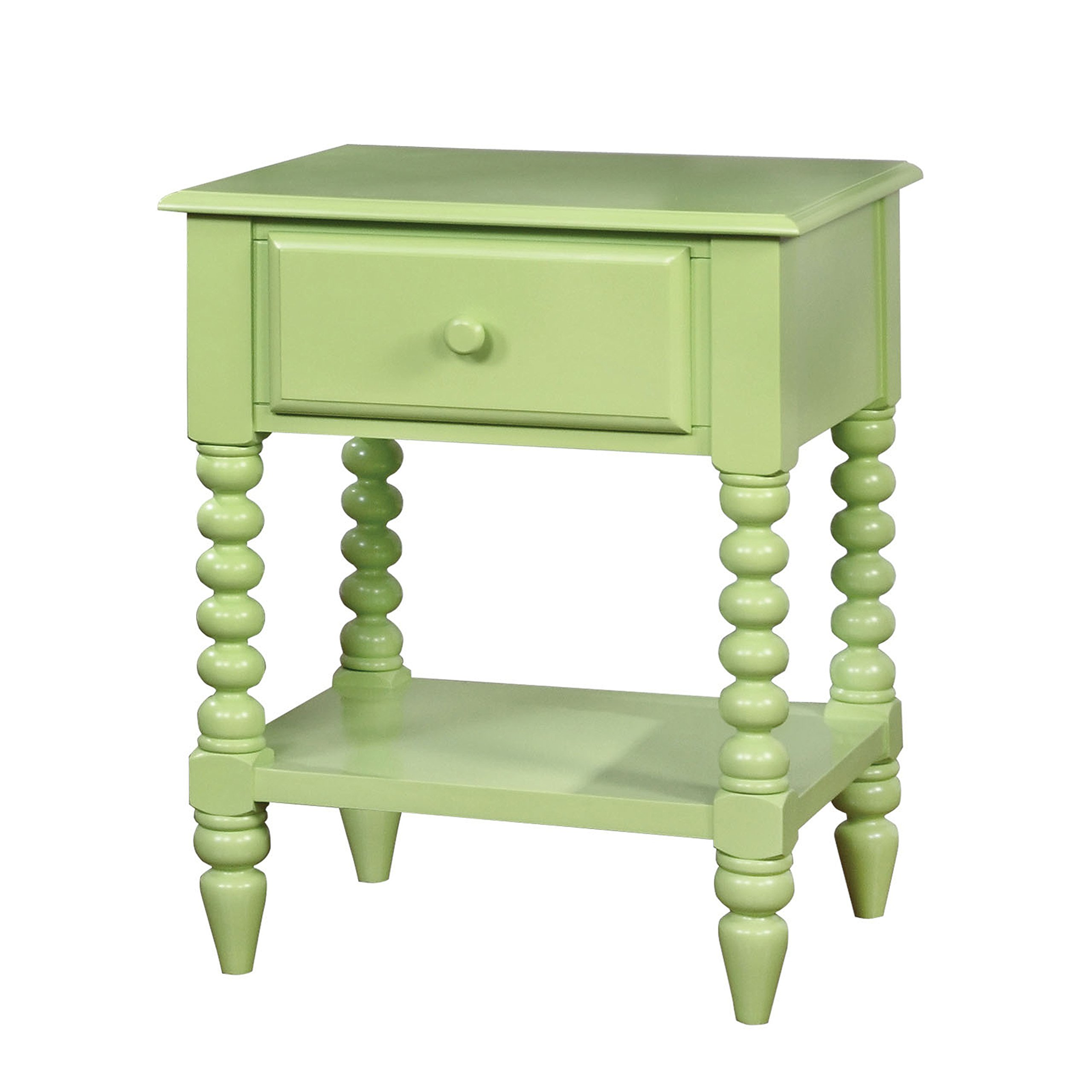 HOMES: Inside + Out IDF-AC323AG Dida Nightstand Childrens, Apple Green