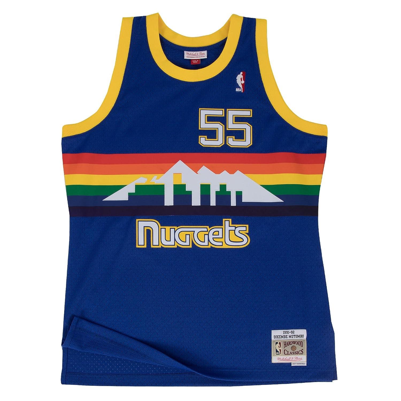 043b9e12cdb Amazon.com   Mitchell   Ness Dikembe Mutombo 1991-92 Denver Nuggets Blue  HWC Swingman Jersey   Sports   Outdoors