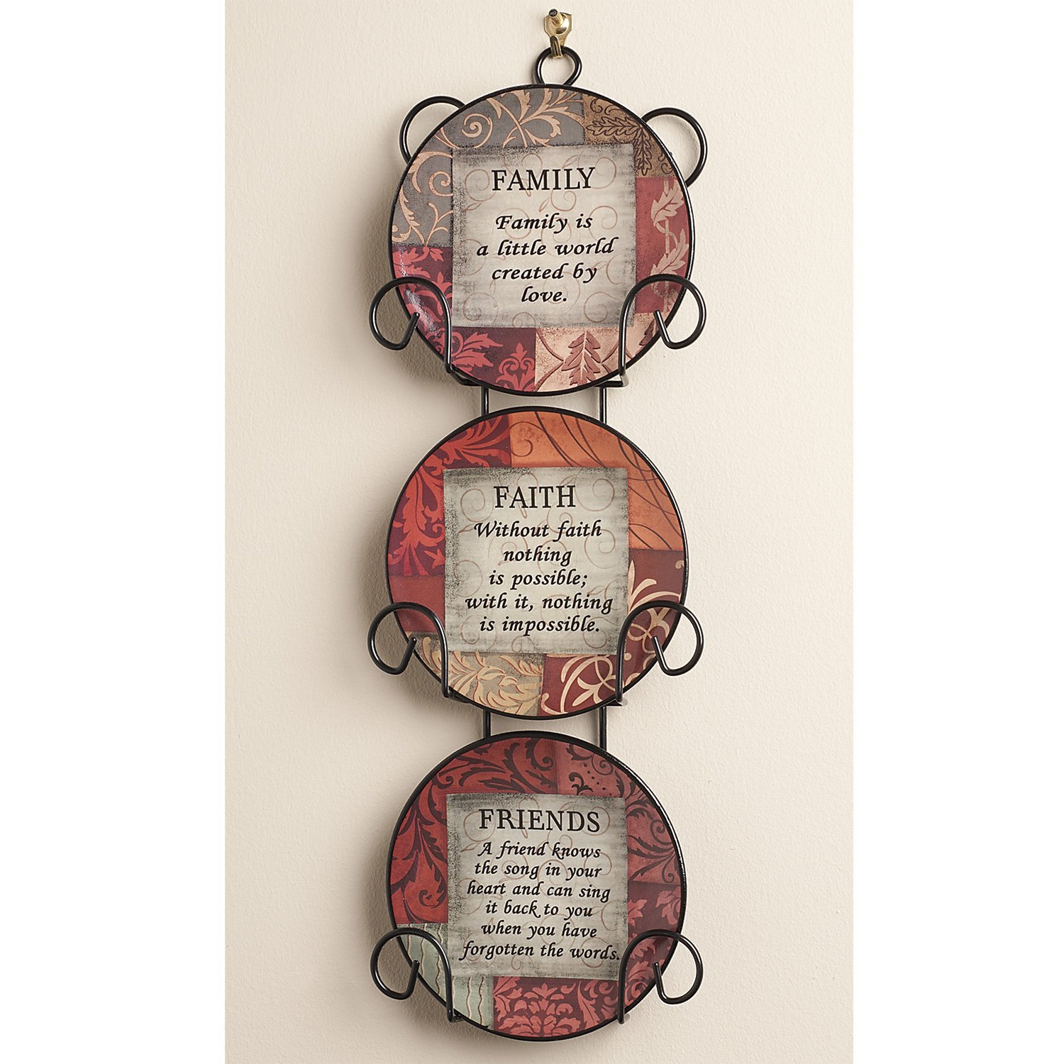 Dawhud Direct Family Faith Friends Inspirational Plate, Set of 3 DH- X543