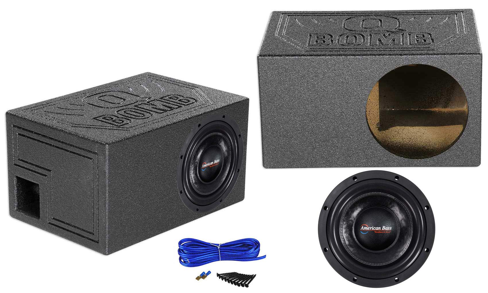 American Bass HD10D1 HD 10'' 4000w Competition Subwoofer+Ported Sub Box Enclosure