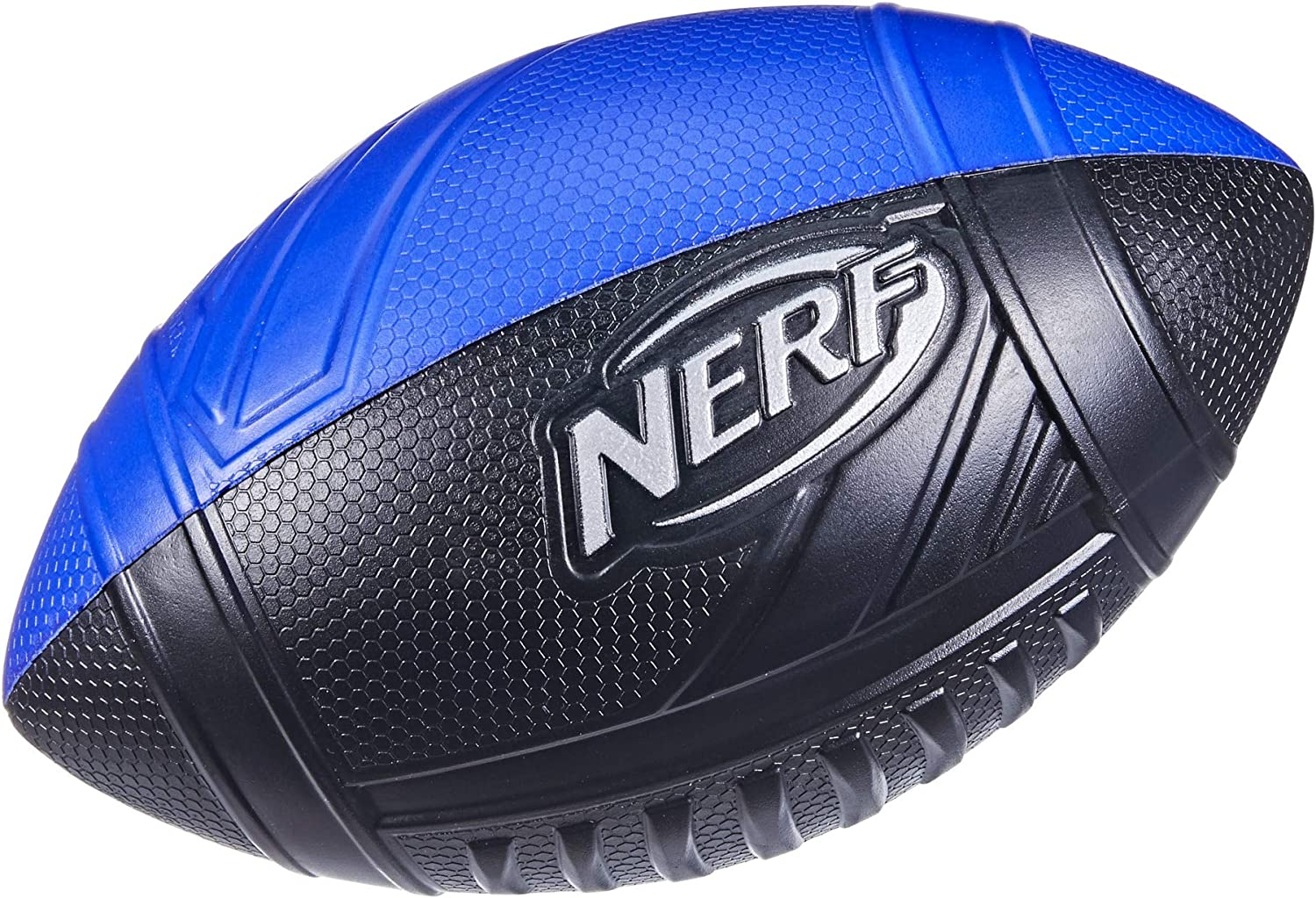Nerf Pro Grip Football -- Classic Foam Ball -- Easy to Catch and Throw -- Great for Indoor and Outdoor Play -- Blue
