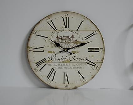Reloj pared madera números Romanos