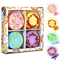 Deals on 4-Packs Welltop Bath Bombs Gift Natural Donut Fizzies Spa Kit