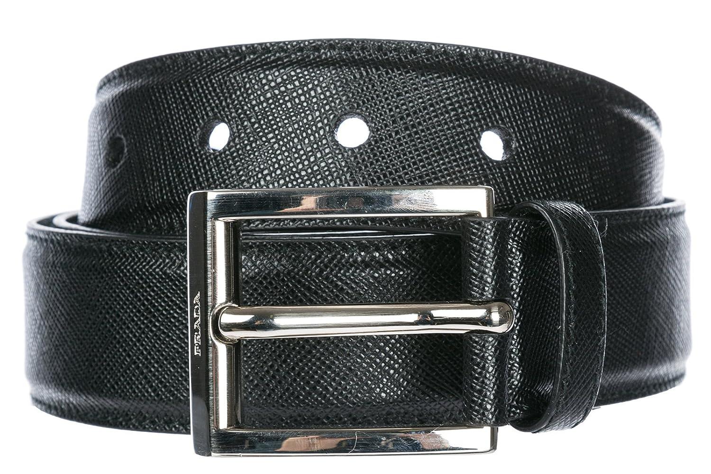Prada cinturón de hombre en piel nuevo negro 50% de descuento - www ... 40d779a89301