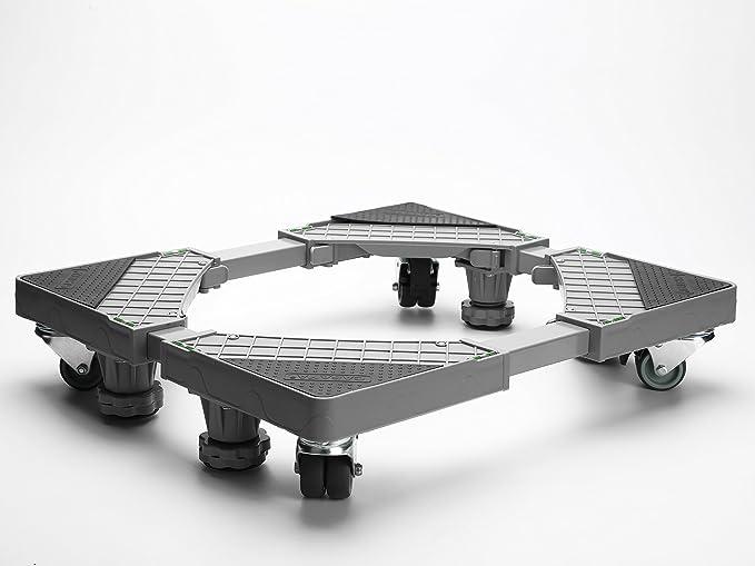 Casaya - Base ajustable multifuncional para muebles con 4 ruedas giratorias de goma y 4
