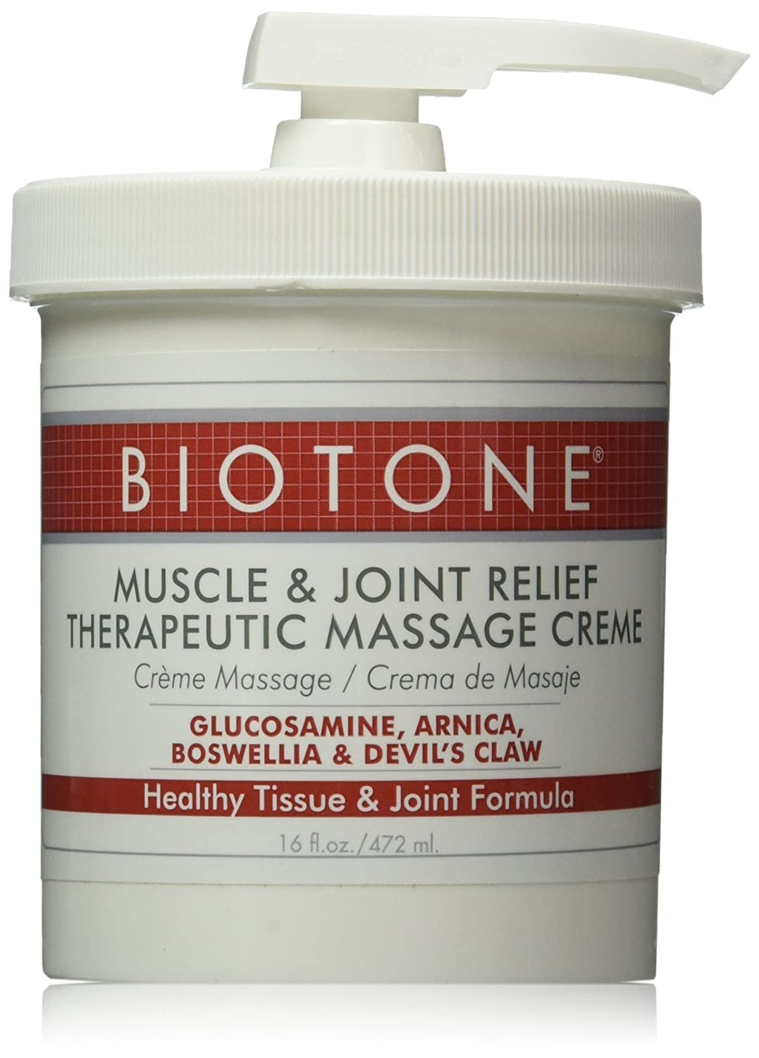 Biotone Biotone Muscle and Joint Relief Therapeutic Products Massage Creme, 16 Ounce : Massage Lotions : Beauty