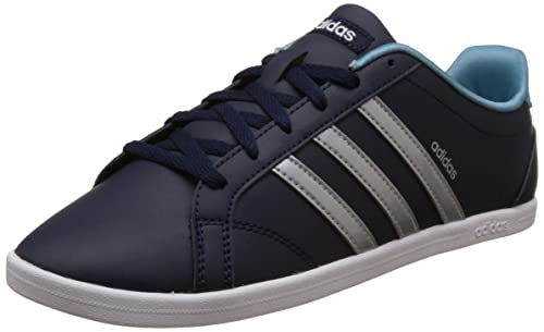new arrival 29421 2e4a6 adidas neo Women s Coneo Qt Conavy, Msilve and Ftwwht Leather Sneakers - 6  UK