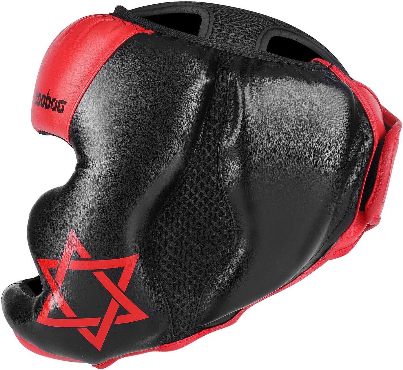 Flexzion MMA Headgear UFC Muay Thai Kickboxing Artes Marciales Sparring Taekwondo Karate Lucha Deportes Boxeo Lucha Maya Oculto Cuero Casco protecci/ón Suministros Equipo
