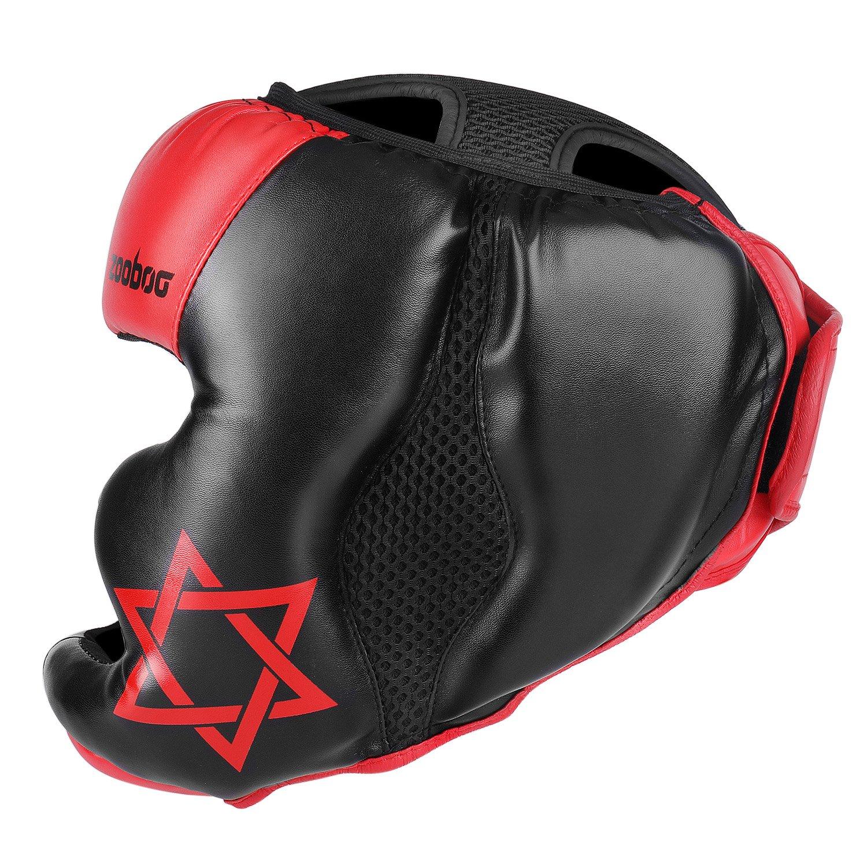 UFC Muay Thai Kickboxing Martial Arts Sparring Taekwondo Karate Fighting Sports Boxing Wrestling Maya Hide Leather Helmet Protection Supplies Equipment Flexzion MMA Headgear
