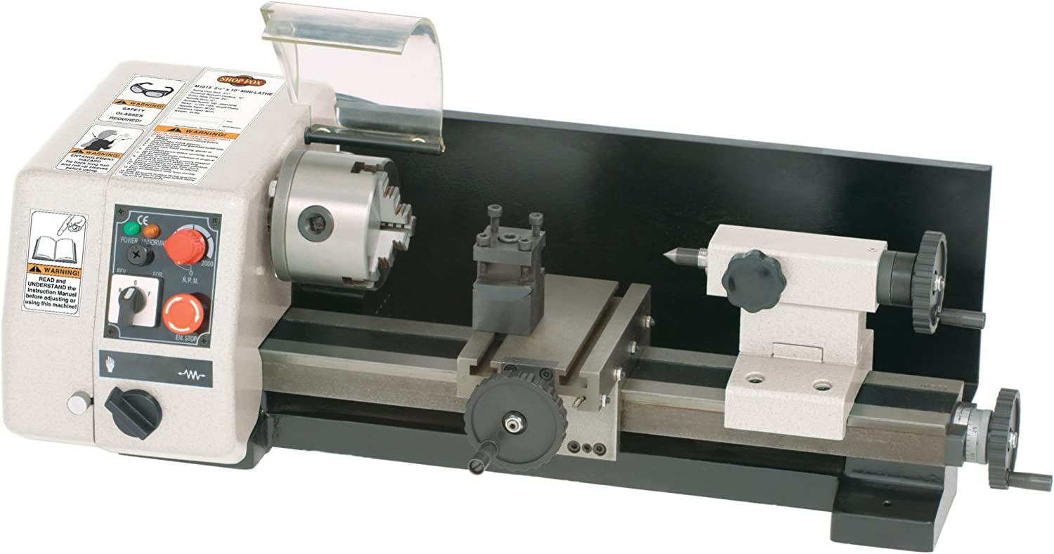 #1 Shop Fox M1015 6-Inch by 10-Inch Micro Lathe