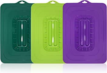 Elite Cuisine ECL-3016 Rectangular Silicone Suction Lids and Food Covers Fits various sizes of