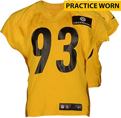 2c5e782d0c9 Amazon.com  Jason Worilds  93 Pittsburgh Steelers Practice Worn Yellow  Jersey from 2014 Season - Fanatics Authentic Certified  Sports Collectibles