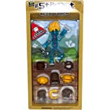 #StikBot Action Pack Figure Roleplay Accessory Set (Blue, Hair Styling) - Colors may vary