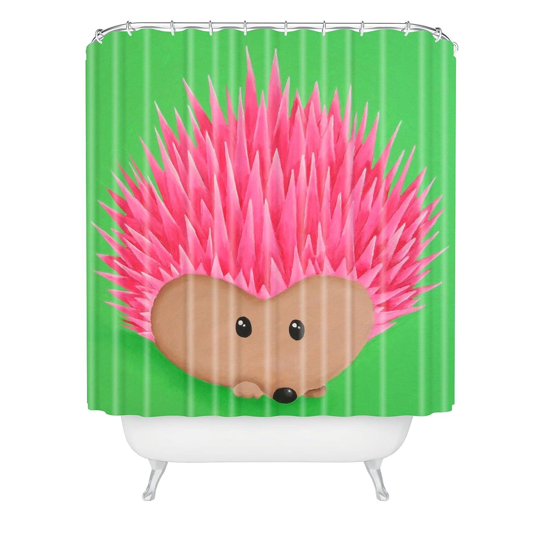 69 x 72 Deny Designs Mandy Hazell Ollie Hedgehog Shower Curtain