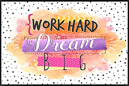 Shopking Work Hard Dream Big Inspirational Motivational Quotes